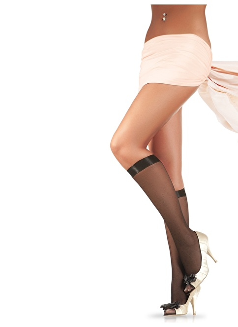 Pierre Cardin 4'Lü Desenli Dizaltı Çorap  Siyah